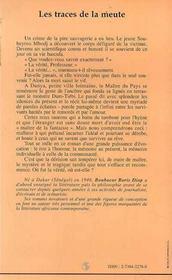 Les Traces De La Meute - 4ème de couverture - Format classique