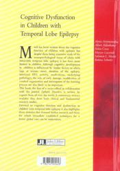 Cognitive Dysfunction In Children With Temporal Lobe Epilepsy T1 - 4ème de couverture - Format classique