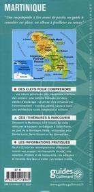 Martinique ; fort-de-france, le carbet, saint-pierre, le rocher du diamant - 4ème de couverture - Format classique