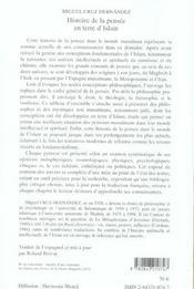 Histoire de la pensée en terre d'Islam - 4ème de couverture - Format classique