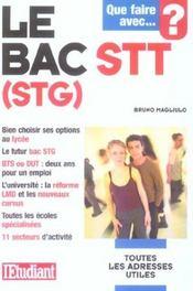 Que Faire Avec Le Bac Stt Stg - Intérieur - Format classique