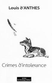 Crimes d'intolérance - Intérieur - Format classique