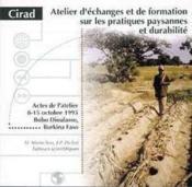 Atelier d'echanges et de formation sur les pratiques paysannes et durabilite - Couverture - Format classique
