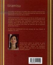 Tiramisu, varions les plaisirs - 4ème de couverture - Format classique