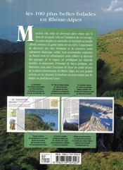 Les 100 plus belles balades en Rhône-Alpes - 4ème de couverture - Format classique