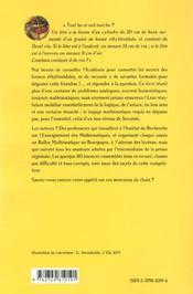 100 Friandises Mathematiques - 4ème de couverture - Format classique