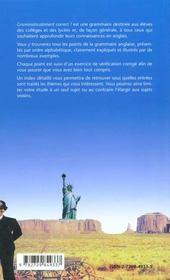 Grammaticalement Correct ! Grammaire Alphabetique De L'Anglais - 4ème de couverture - Format classique