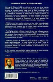Racines Ethiopiennes De L'Egypte Ancienne - 4ème de couverture - Format classique
