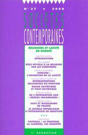 Societes Contemporaines N.37 ; Religions Et Laïcité En Europe - Intérieur - Format classique