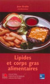 Lipides Et Corps Gras Alimentaires (Collection Staa) - Couverture - Format classique