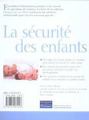 La securite des enfants - 4ème de couverture - Format classique