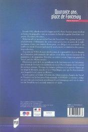 Quarante ans, place de fontenoy - 4ème de couverture - Format classique