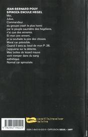 Spinoza Encule Hegel - 4ème de couverture - Format classique