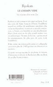 Royokan Le Chemin Vide ; Vie Et Poemes D'Un Moine Zen - 4ème de couverture - Format classique