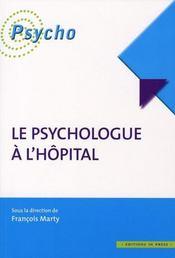 Le psychologue à l'hôpital - Intérieur - Format classique