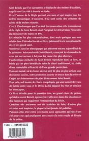 Par Le Pouvoir De Saint Benoit - 4ème de couverture - Format classique