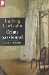 Le crime passionnel - Intérieur - Format classique