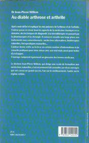Au Diable Arthrose. Arthrite - 4ème de couverture - Format classique