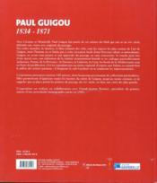 Paul Guigou 1834-1871 - 4ème de couverture - Format classique
