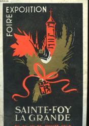 Foire Exposition - Sainte-Foy La Gande - Couverture - Format classique