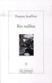 Res nullius - Intérieur - Format classique