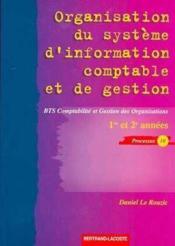 Organisation du systeme d'information comptable et de gestion ; processus 10 - Couverture - Format classique
