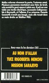 SAS t.112 ; vengeance à Beyrouth - 4ème de couverture - Format classique