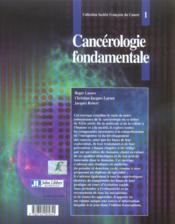 Cancerologie Fondamentale - 4ème de couverture - Format classique
