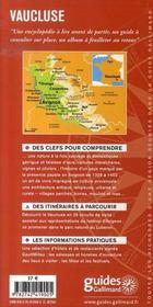 Vaucluse ; Avignon, Orange, Apt, Lourmarin, Carpentras - 4ème de couverture - Format classique