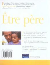 Etre pere - 4ème de couverture - Format classique