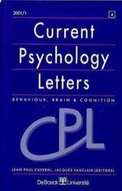 Revue Current Psychology Letters N.4 - Couverture - Format classique