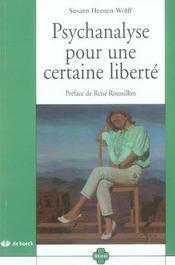 Psychanalyse pour une certaine liberté - Intérieur - Format classique
