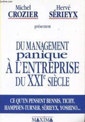 Du Management Panique A L'Entreprise Du Xxie Siecle - Couverture - Format classique