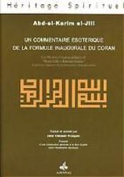 Commentaire Esoterique De La Formule Inaugurale Du Coran - Intérieur - Format classique