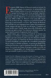 Beauvoir dans tous ses états - 4ème de couverture - Format classique