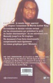 King, la biographie non-officielle de Martin Luther King t.3 - 4ème de couverture - Format classique