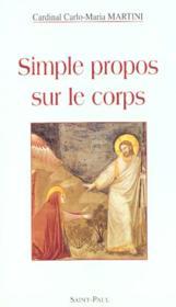 Simple Propos Sur Le Corps - Couverture - Format classique