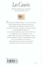 Les Cauris - Un Art Divinatoire Africain A La Portee De Tous - 4ème de couverture - Format classique