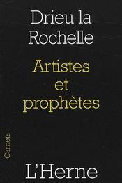Artistes et prophètes - Intérieur - Format classique