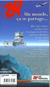 Lisbonne (édition 1998-1999) - 4ème de couverture - Format classique