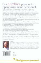 Numerologie Et Mieux Etre - 4ème de couverture - Format classique
