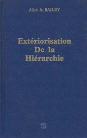 Exteriorisation De La Hierarchie - Couverture - Format classique