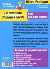 La retouche d'image facile - 4ème de couverture - Format classique