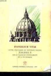 Evangelium Vitae - Couverture - Format classique