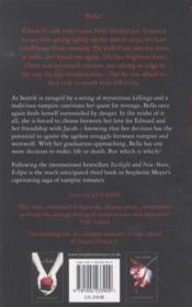Eclipse - 4ème de couverture - Format classique