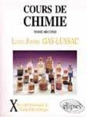Cours de chimie tome 2 - Intérieur - Format classique