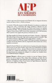AFP 1957-2007 ; les soldats de l'information - 4ème de couverture - Format classique