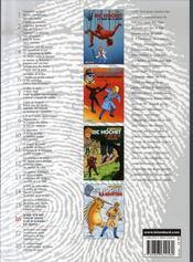 Ric Hochet ; intégrale t.16 - 4ème de couverture - Format classique