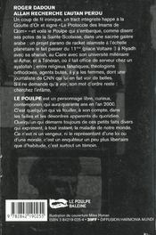 Allah Recherche L Autan Perdu - 4ème de couverture - Format classique
