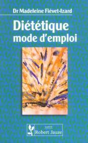Dietetique mode d'emploi - Couverture - Format classique